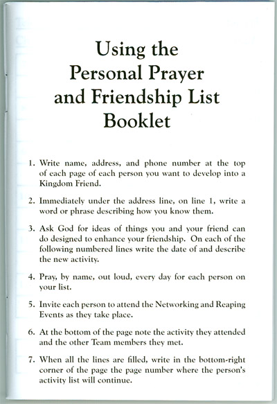 Prayer friendship booklet front of booklet the pages inside user guide thecheapjerseys Gallery
